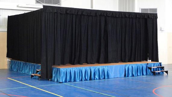 telones portátiles para escenarios de teatros